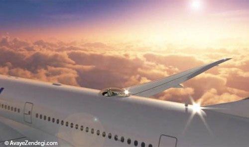 نصب صندلی روی سقف هواپیما!