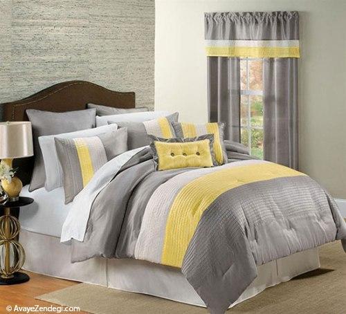 اتاق خواب، فقط زرد و خاکستری!