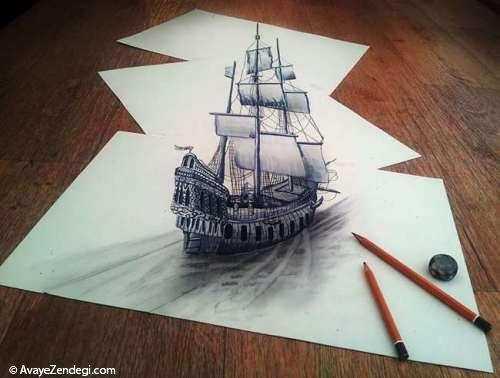 شگفت انگیزترین نقاشی های سه بعدی با مداد
