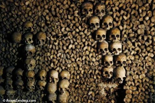 دخمه های پاریس با 6 میلیون استخوان