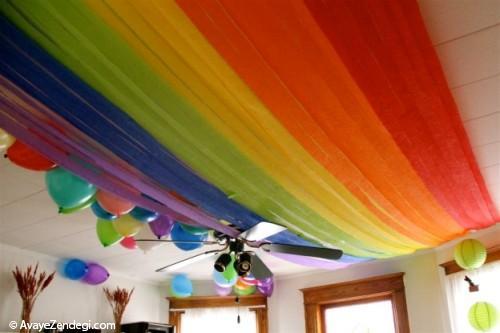 ایده های تزئین سقف برای جشن تولد