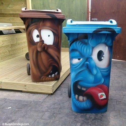 ایده های طراحی سطل زباله خیابانی