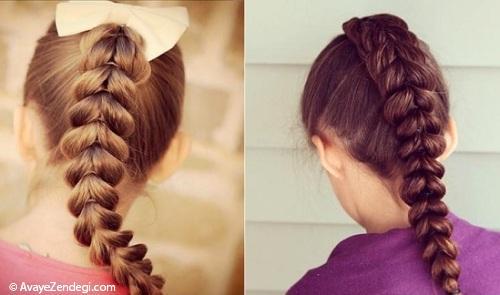 مدل بافت ساده و شیک برای موهای بلند