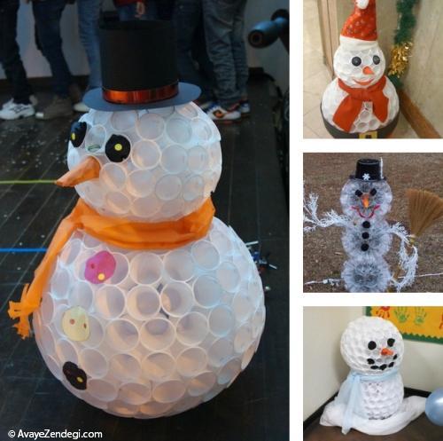 ایده هایی برای ساخت آدم برفی