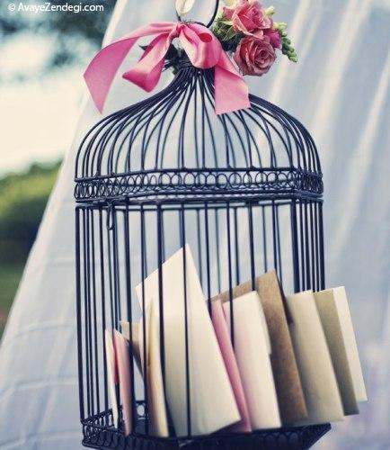 ایده های دکور عاشقانه از قفس های پرندگان تزئینی