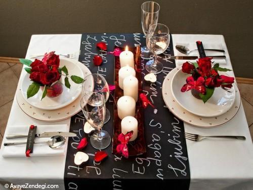 20 ایده جالب برای تزئین میز عاشقانه