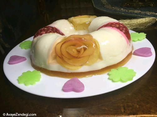 طرز تهیه ژله ویترینی با میوه
