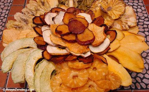 روش خشک کردن میوه ها