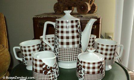 طراحی زیبای فنجان های قهوه و چایی